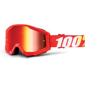 100% Strata Goggles red